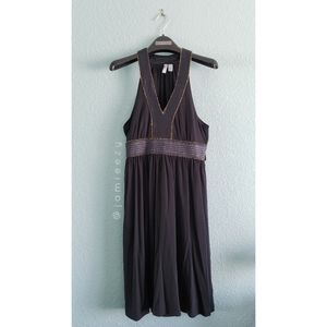 Old Navy | Metallic + Ribbon Neckline Empire Dress